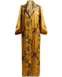 Johanna Ortiz - The Flower Queen Silk Robe - Lyst