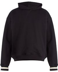 Fear Of God - Striped-cuff Cotton Hooded Sweatshirt - Lyst