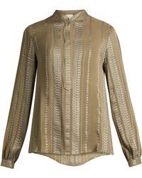 Zeus + Dione | Hera Geometric-jacquard Silk-blend Shirt | Lyst