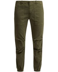 Nili Lotan - Loden Stretch Cotton Military Trousers - Lyst