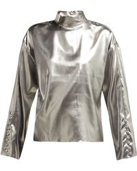 Hillier Bartley - Dropped Shoulders Silk Top - Lyst