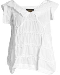 Vivienne Westwood Anglomania - Godet Zigzag-stitched Top - Lyst
