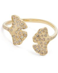 Aurelie Bidermann - Ginkgo 18-karat Gold Diamond Ring - Lyst
