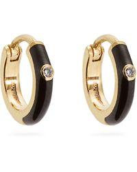 Marc Alary - Diamond, Enamel & Yellow-gold Earrings - Lyst