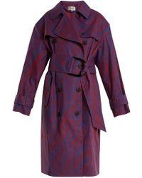 Diane von Furstenberg - Visconti-print Cotton-blend Trench Coat - Lyst