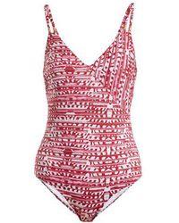 Biondi - Ceylon-print Swimsuit - Lyst