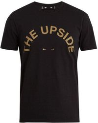 The Upside - Big Logo Crew-neck Cotton T-shirt - Lyst