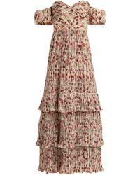 Johanna Ortiz - The Lady Of Shallot Floral Print Dress - Lyst