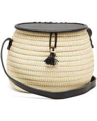 Sensi Studio - Leather And Toquilla Straw Basket Bag - Lyst