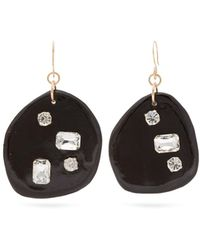 Sonia Boyajian - Harley Crystal Embellished Ceramic Drop Earrings - Lyst