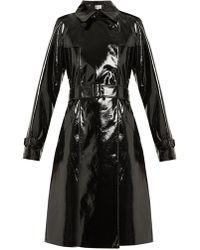 Diane von Furstenberg - Double-breasted Vinyl Trench Coat - Lyst