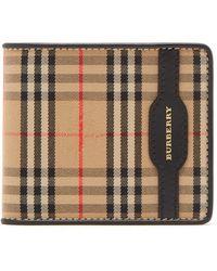 Burberry Haymarket Check Bi Fold Wallet - Black
