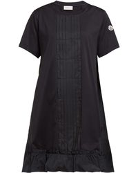 Moncler - Abito Round Neck Cotton Jersey Dress - Lyst