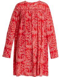 Diane von Furstenberg - Ullman Floral-print Silk Crepe De Chine Dress - Lyst