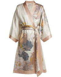 Carine Gilson - Floral-print Silk Robe - Lyst
