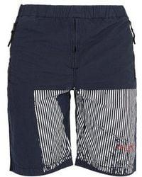 Stone Island - Marina Striped Cotton-blend Shorts - Lyst