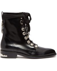 Toga - Polished Leather Ankle Boots - Lyst