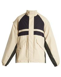 Martine Rose - Contrast-panel Logo-print Shell Jacket - Lyst