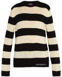 CALVIN KLEIN 205W39NYC - Striped Wool Blend Knit - Lyst