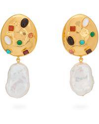 Lizzie Fortunato La Bomba Gold Plated Drop Clip Earrings - Metallic