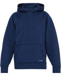 Saturdays NYC - Indigo Dyed Hooded Cotton Sweatshirt - Lyst