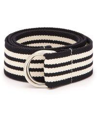 Isabel Marant - Striped Woven Cotton Blend Belt - Lyst