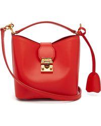 Mark Cross - Murphy Mini Leather Bucket Bag - Lyst