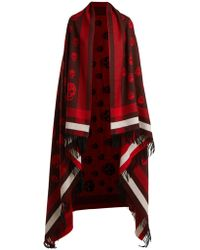 Alexander McQueen - Skull Wool And Cashmere-blend Wrap - Lyst