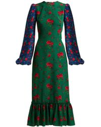 The Vampire's Wife - Belle Floral Print Crepe Midi Dress - Lyst