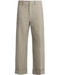 Chloé | Striped Wide-leg Wool-blend Trousers | Lyst