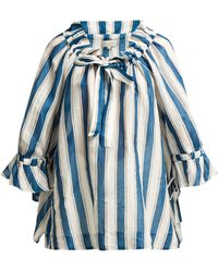Lee Mathews - Watson Striped Linen Blouse - Lyst