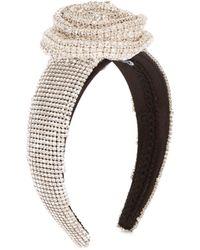 Dolce & Gabbana - Crystal Embellished Silk Headband - Lyst