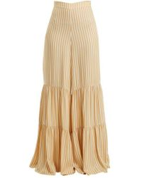 Adriana Degreas - Two-tier Striped Wide-leg Trousers - Lyst