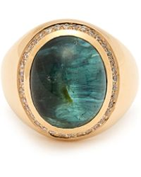 Jacquie Aiche - Cats Eye Tourmaline Gold Ring - Lyst