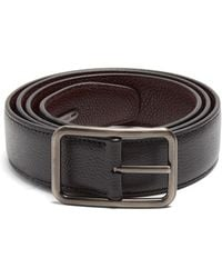 Lanvin | Dish Axis Reversible Leather Belt | Lyst