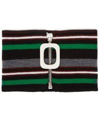 JW Anderson - Striped Knitted Merino Wool Neckband - Lyst