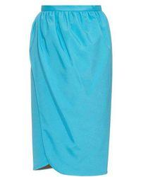 Emilio de la Morena - Saima Stretch-silk Wrap Skirt - Lyst