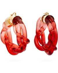 Marni - Braided Perspex Hoop Earrings - Lyst