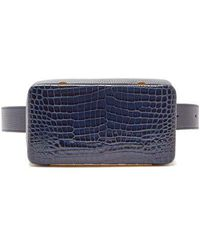 Lutz Morris - Evan Crocodile-effect Leather Belt Bag - Lyst