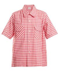 Chimala - Gingham Patch-pocket Cotton Shirt - Lyst