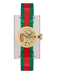 Gucci - Web Plexiglas Watch - Lyst