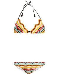 Missoni - Zigzag-edged Striped Bikini - Lyst