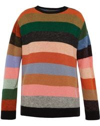 The Elder Statesman - Super Duper Crewneck Cashmere Sweater - Lyst