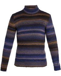 Altea - Striped Wool-blend Jumper - Lyst