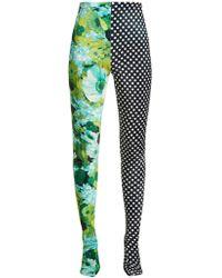 Richard Quinn - Floral And Polka Dot Print Leggings - Lyst