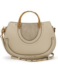 Chloé | Pixie Medium Leather And Suede Shoulder Bag | Lyst