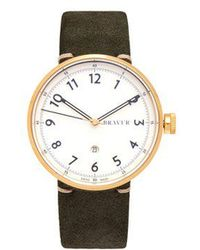 Bravur - Bw102 Stainless-steel And Suede Watch - Lyst