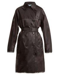 Prada - Lace-trim Velo-nylon Trenchcoat - Lyst