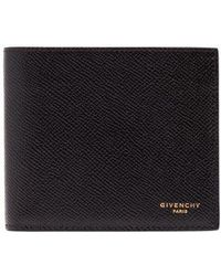 Givenchy - Grained-leather Bi-fold Wallet - Lyst