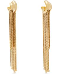 Givenchy - Logo Charm Chain Fringe Earrings - Lyst